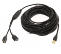 10 Metre Active USB Extension cable with 2 Ports