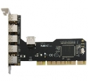 PCI USB 2.0 Host Controller Card (5-Ext, 1-Int. Ports)