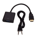 HDMI to VGA Cable (M/F) , Supports 1080p, HDCP
