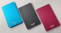 SSD External Hard Drive, 240GB. Black, Blue or Pink