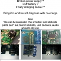 USB, Headphone, Power Socket ETC replacement