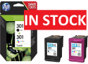 HP 301 Content Combo Pack - 2 Standard Capacity Ink Cartridges (Black/Tri-Colour)